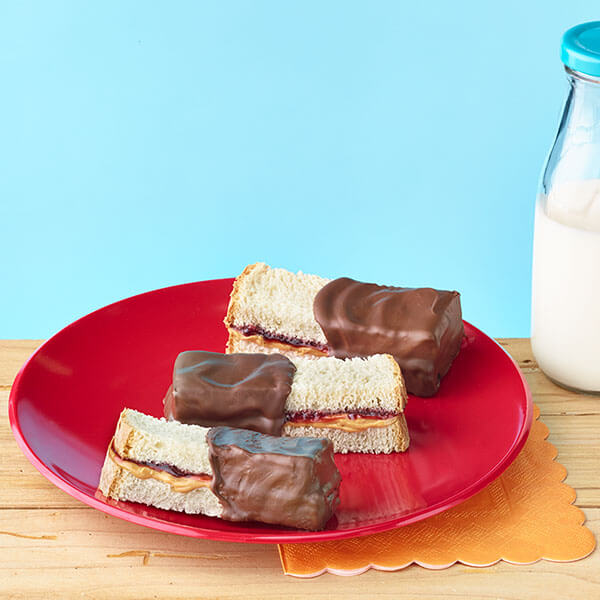 Chocolate Dipped PB&J – Recipes