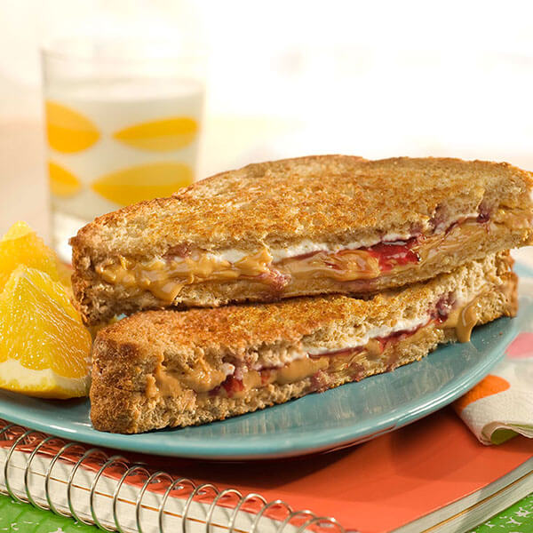 Creamy Grilled PB&J's – Recipes