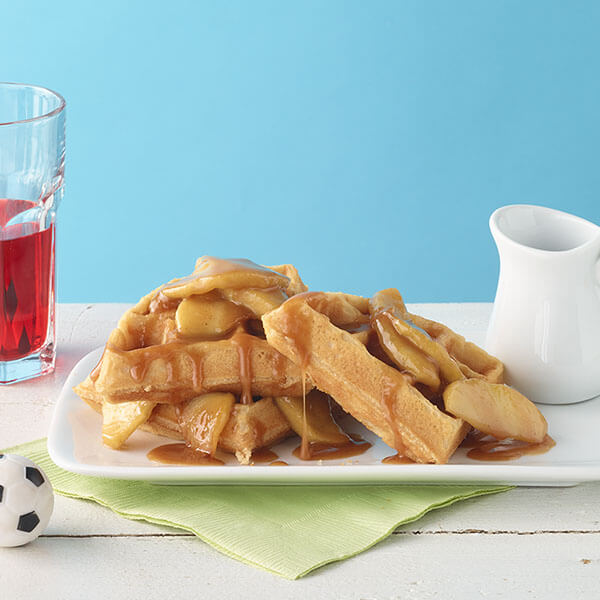 Peanut Butter and Apple Topped Waffles – Recipes