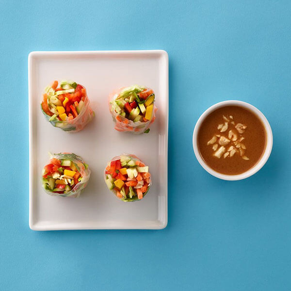 Summer Rolls with Peanut Dipping Sauce – Recipes