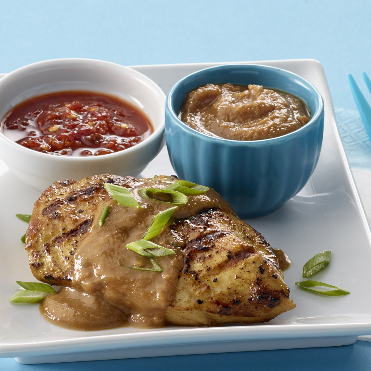 Chicken with Savory Peanut-Sesame BBQ Sauce – Recipes