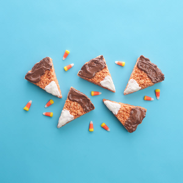 SKIPPY® Peanut Butter Halloween Crispy Candy Corn Treats