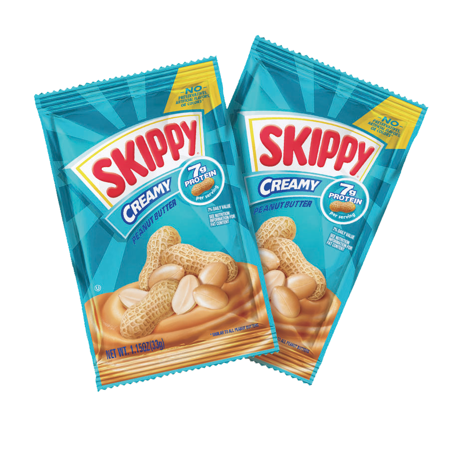 SKIPPY® Creamy Peanut Butter Individual Squeeze Packs