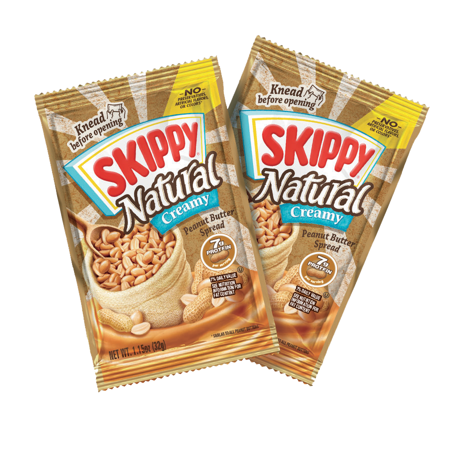 SKIPPY® Natural Creamy Peanut Butter Individual Squeeze Packs