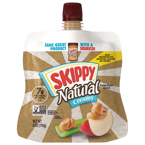 SKIPPY® Natural Peanut Butter Spread Squeeze Pack