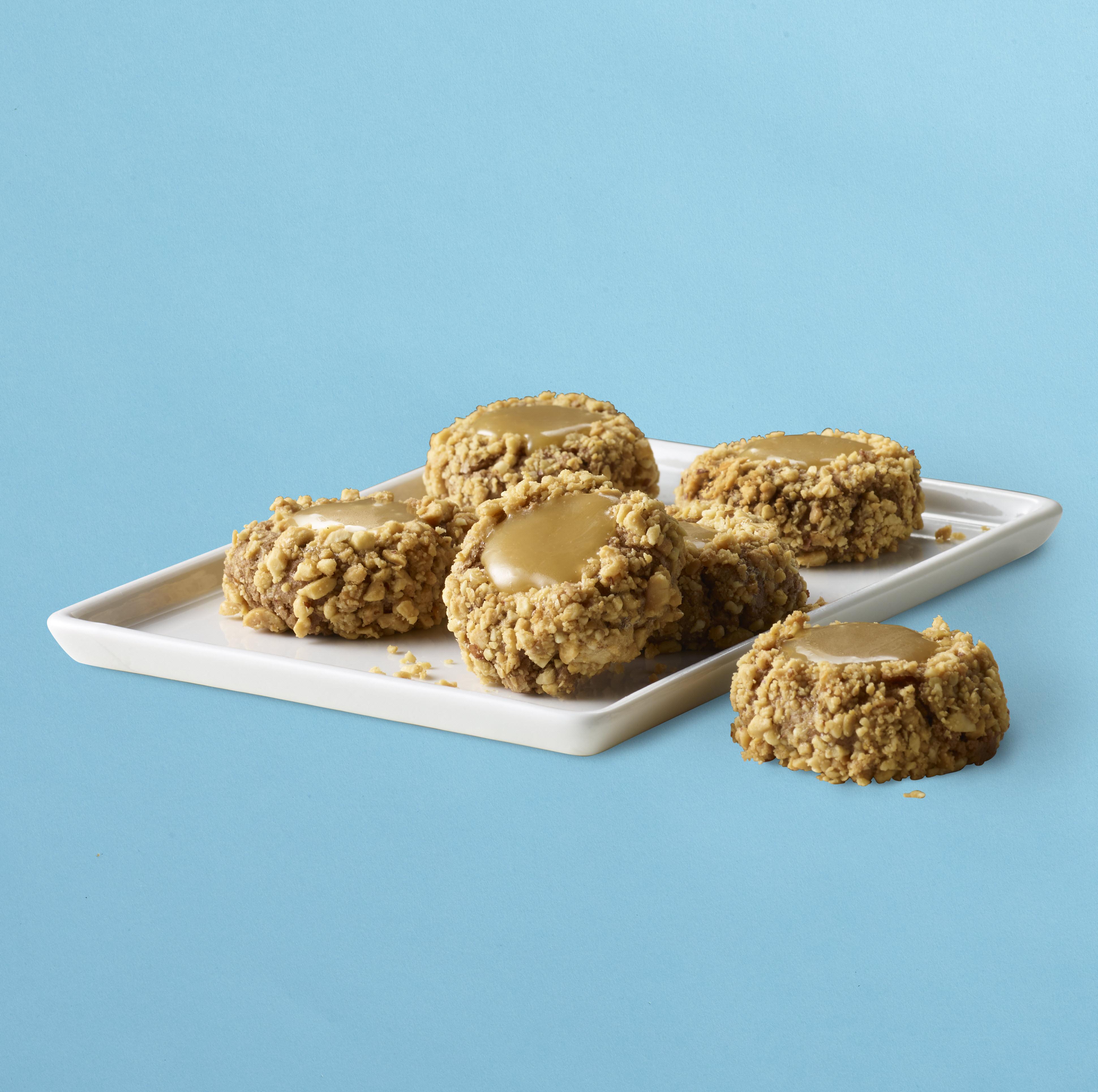 Peanut Butter Caramel Thumbprint Cookies